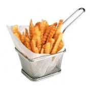 Mini Chrome Chip Serving Basket