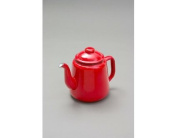 FALCON RED ENAMEL TEA POT WITH HANDLE & LID TEAPOT - CAMPING