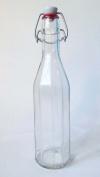 Traditional 500ml Fluted Glass Bottle & Ceramic Swing Stopper
