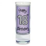Lilac 18th Happy Birthday Shot Drinking Glass Present Gift Glasses