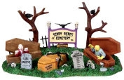 Lemax 03802 Scary Acres Cemetery Spooky Town Table Accent Village Halloween Decor O G Scale Retired