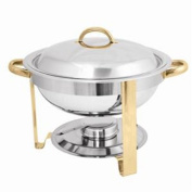 CHAFER 3.8l GOLD ACCENTED ROUND CHAFER BUFFET CATERING BANQUET
