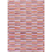 1.1m x 1.7m Gridded Lines with Different Accents of Pink and Red