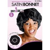 Bee Sales Magic Collection Breathable Satin Bonnet Large Black
