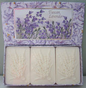 Saponificio Artigianale Fiorentino Tuscan Lavender 3 x 130ml Boxed Soap Set Made in Italy All Natural