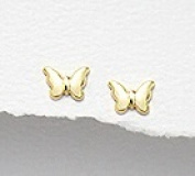 Butterfly - Sterling Silver Gold Plated