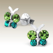 Butterfly Green and Blue Crystals