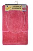 Royal Trading 3-Piece Bathroom Set, Pink