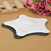 Rubber Starfish Hair Strainer Shower Drain Cover Hairs Catcher/white