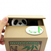 Cute Kids Stealing Coins Cents Penny Buck Saving Money Box Pot Case Piggy Bank Panda