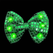 Light-Up Green Sequin Bow Tie