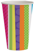 Creative Converting 8 Count Bright and Bold Hot or Cold Beverage Cups