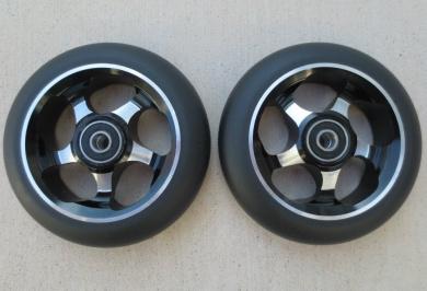 DIS 110mm Soft Landing Metal Core Wheels 5-Spoke - Black