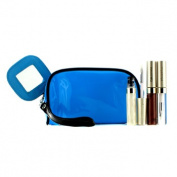 Lip Gloss Set With Blue Cosmetic Bag (3xMode Gloss, 1xCosmetic Bag), 3pcs+1bag