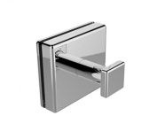 Preferred Bath Accessories PC1000GM Primo Collection Glass Mounted Single Robe Hook, Polished Chrome, ,