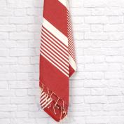 Burgundy/white Peshtemal Fouta Towel, Bath Towel, Beach Towel| Bathroom Towel- Turkish Towel