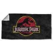 Classic Movie Logo -- Jurassic Park -- Beach Towel