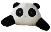TheWin White Black Boy Panda-Shaped Car Cushion with Arm