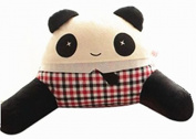 TheWin Red Grid Boy Panda-Shaped Car Cushion with Arm
