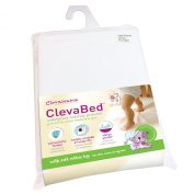 Clevamama Brushed Cotton Fitted Mattress Protector, 80cm x 190cm