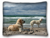 Decorative Standard Pillow Case Animals Dogs sea 50cm *70cm One Side
