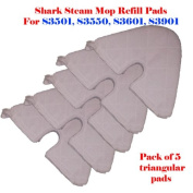 "Standard Size (32cm X 19cm ) / Large Xl (42cm X7.13cm ) / Triangular (28cm X7"") Steam Mop Replacement Pocket Pads for Euro-pro Shark S3501 S3601 S3901 S3550 Se450 Refill (5, Triangular"