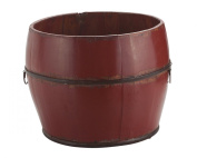 Antique Revival Vintage Benton Bucket, Red