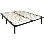 Classic Brands Europa Wood Slat and Metal Platform Bed Frame, Mattress Foundation, Twin XL Extra Long