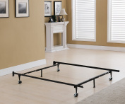 Khome Brand 6-Leg Super Duty Adjustable Metal Bed Frame (Queen/Full/Full XL/Twin/Twin XL) with 4 Rug Rollers & 2 Arm-support Legs