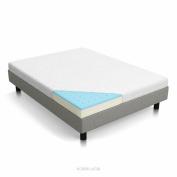 LUCID 13cm Gel Memory Foam Mattress - Dual-Layered - CertiPUR-US Certified - Firm Feel - Queen Size