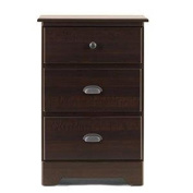 Lang Furniture Bayfield 3-Drawer Night Stand with Roller Glides, 16 by 50cm by 80cm , Espresso Maple