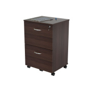 Inval America Uffici Commercial Collection 2-Drawer Mobile File Cabinet