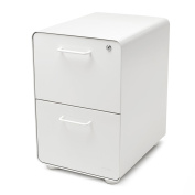 Poppin White East 18th 2-Drawer File Cabinet