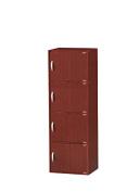 Hodedah 4 Door Cabinet, Mahogany