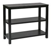 Ave Six MRG07R1-BK Merge Wood Grain Foyer Table, 90cm , Black