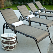 Coral Coast Coral Coast Del Rey Padded Sling Chaise Lounges - Set of 2, Bronze, Aluminium, 72.75L x 27W x 39.75H inches