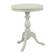 Carolina Cottage 1925-AP Gilda Pedestal Side Table, Antique Parchment