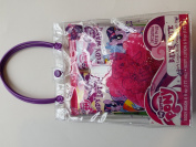 My Little Pony Gallopin' Grape Bath Tote with Body Wash , Lotion and Bath Pouffe Gift Set