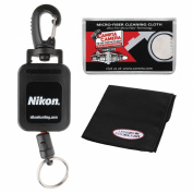 Nikon Retractable Rangefinder Tether with Cleaning Cloth