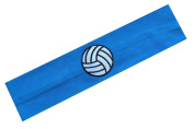 Funny Girl Designs Cotton Volleyball Patch Stretch Headband for Girls Teens and Adults - Volleyball Team Gift