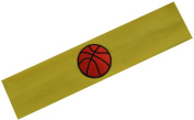 Funny Girl Designs Cotton Basketball Patch Stretch Headband for Girls Teens and Adults - Basketball Team Gift