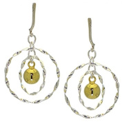 GENEVRA sterling silver and g-plated clip on earring by SPK