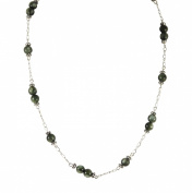 Seraphinite Necklace - Station Style, Sterling Silver - 43cm