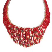 Bold Cascades Mix Stone Collar Statement Necklace
