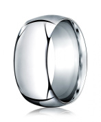 Womens 14K White Gold, 10.0mm High Dome Heavy Comfort-Fit Ring
