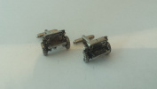 Willy's Jeep Front 3D cufflinks made from Fine English Pewter
