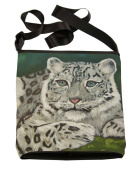 Snow Leopard Cross Body Handbag - From My Original Painting, Support Wildlife Conservation, Read How