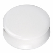 Solid White Acrylic Ear Plug, Flared 12mm