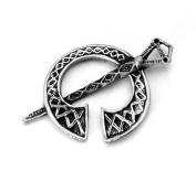 Tara (Celtic Brooch) Pin Badge in Fine English Pewter, Handmade