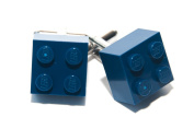 Lego Dark Blue Brick Cufflinks Cuff Links Funky Cool